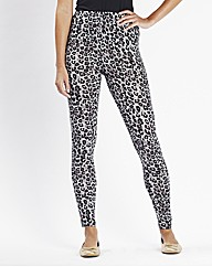 Animal Print Leggings Length 28in
