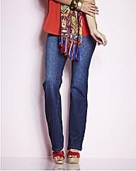 Straight Leg Jersey Jeans 27in