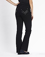Embellished Bootcut Jeans Length 28in