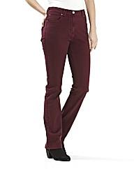 Coloured Straight Leg Jeans length 27in