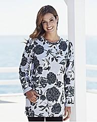 Print Jersey Sweatshirt Tunic