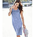 Chambray Linen Mix Shift Dress