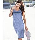 Chambray Linen Mix Shift Dress