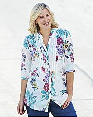 Floral Print Cotton Tunic