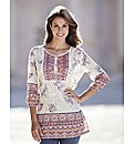 Border Print Cotton Tunic