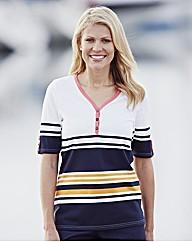 Alice Collins V Neck Stripe