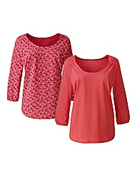 Pack of 2 Cotton Jersey Top