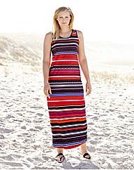 Stripe Print Jersey Dress 52in