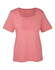 Coral Stripe T-Shirt