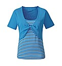 Turquoise Twist Front T-Shirt