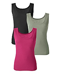 Pack 3 Cotton Vests