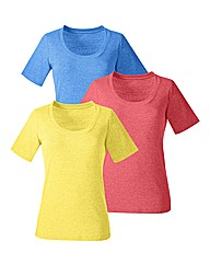 Pack 3 Cotton Basic T Shirts