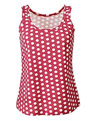 Coral Spot Print Cotton Jersey Vest