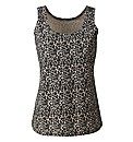 Animal Print Cotton Jersey Vest