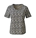 Animal Print Cotton Jersey T-Shirt