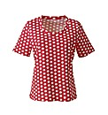 Coral Spot Print Cotton Jersey T-Shirt