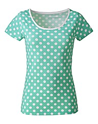 Spot Print Cotton Jersey T-Shirt