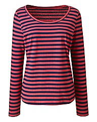 Stripe Long Sleeve Cotton Jersey Top