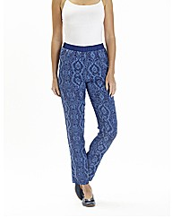 Printed Trouser Length 27in