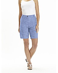Chambray Linen Mix Shorts