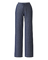 Linen Blend Trousers 25in