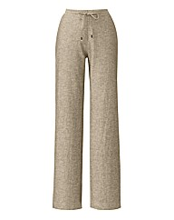 Linen Blend Trousers Length 31in