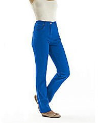 Coloured Straight Leg Jeans Length 31ins