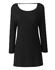 Cowl Back Jersey Tunic