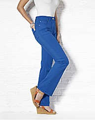 Coloured Bootcut Jeans Length 32in