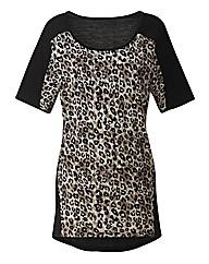 Petite Leopard Print Jersey Tunic