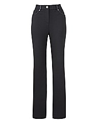 Ponte Trousers with PU Trim 29in