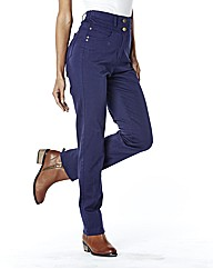 Helena Slim Leg High Waist Jean 27in