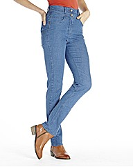 Slim Leg High Waist Jean 27in