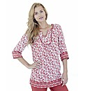 Printed Linen Mix Tunic