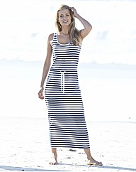 Stripe Jersey Maxi Dress 50in