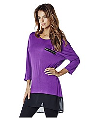 Dipped Hem Tunic With Zip Detail