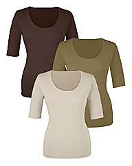 Pack Of 3 Basic T Shirts