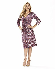 Jersey Print Dress 41in