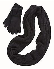 Snood and Glove Set