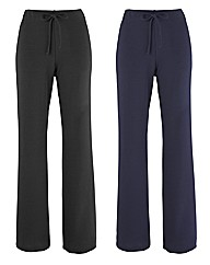 Pack Of 2 Trousers 27in