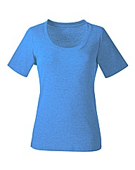 Sky Blue Plain Cotton T-Shirt