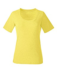 Plain Yellow Cotton T-Shirt