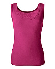 Plain Raspberry Pink Cotton Vest