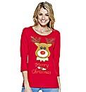 Reindeer Print Jersey Tunic
