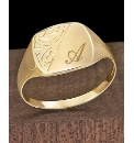 Gents 9ct Gold Personalised Signet Ring