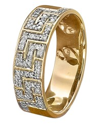 9ct Gold Greek Key Design Ring