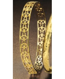 Rolled Gold Celtic Knot-Style Bangle