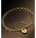 9 Carat Gold Padlock Bracelet