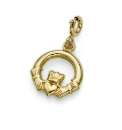9ct Gold Claddagh Charm