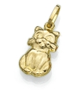 9ct Gold Cat Charm
